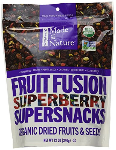 Made In Nature Superberry Fruit Fusion, 12 oz - Organic Fruit and Nut Trail Mix ()