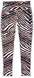 Zubaz NFL Denver Broncos Women's Zebra Print Leggings Pants, Small, Navy/Orange