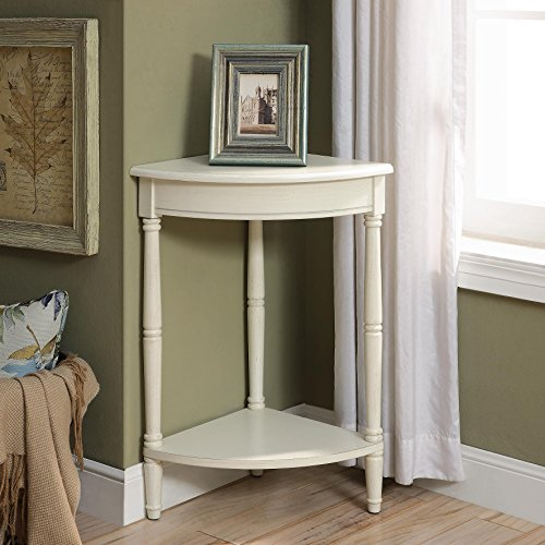 Corrine Corner Table in Antique (Antique White Corner Table)