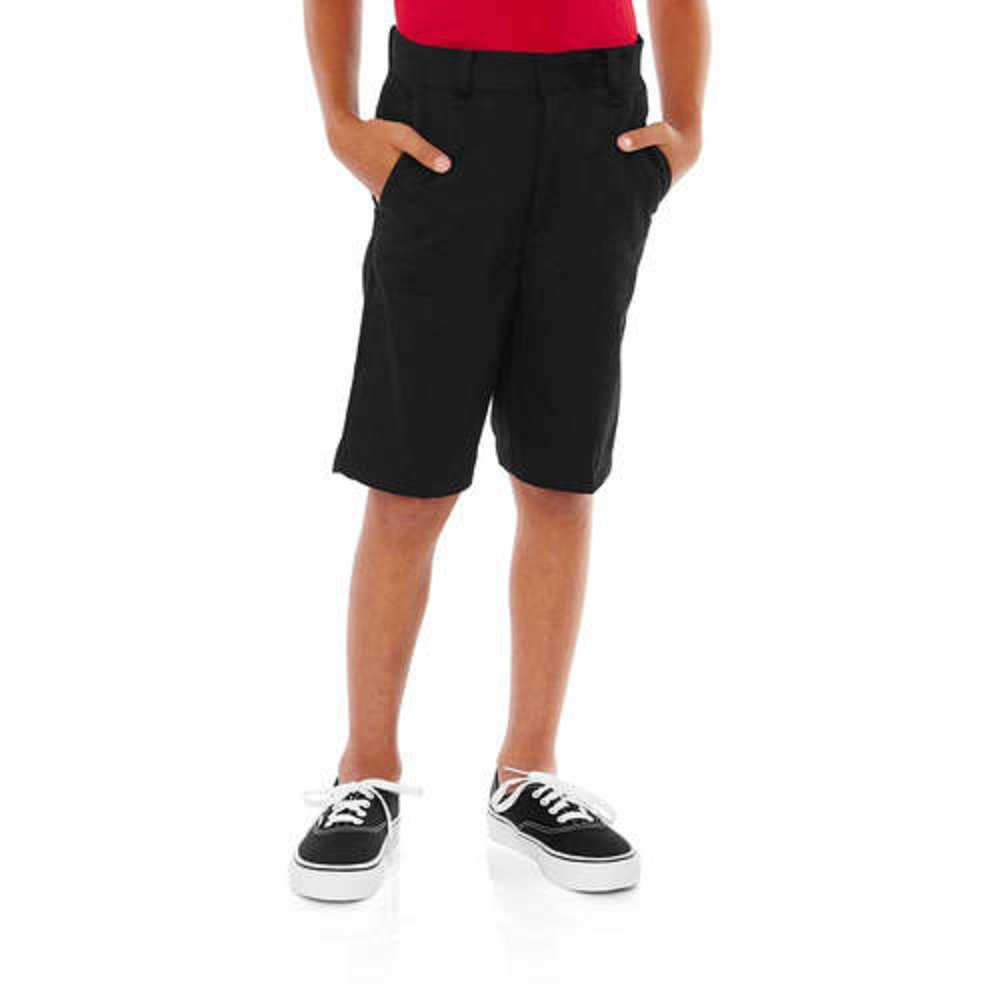 10H, Black Soot George Boys School Uniforms Flat Front Shorts