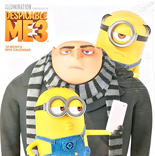 Despicable Me 3 Minions 16 Month 2018 Wall Calendar