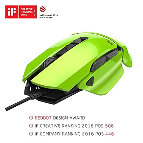 James Donkey 007 REDDOT Design Award 8200DPI Laser Gaming Mouse 54 DIY Modular Pixart ADNS9800 Optical with 6 Macro Button 20 Million Click RGB Chroma Light Wired Gamer Mice for Windows Mac PC -