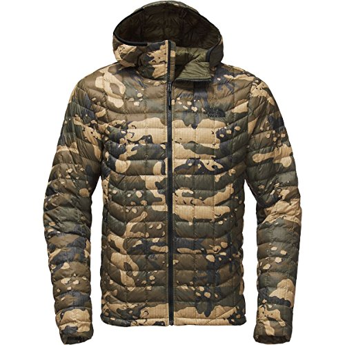 FACE Print Camo Hoodie Olive NORTH Woodchip Mens Green Burnt THE Thermoball gw1q5vS