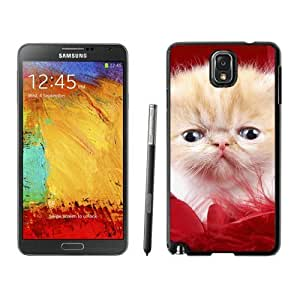 Personalized Hard Shell Christmas Cat Black Samsung Galaxy Note 3 Case 33