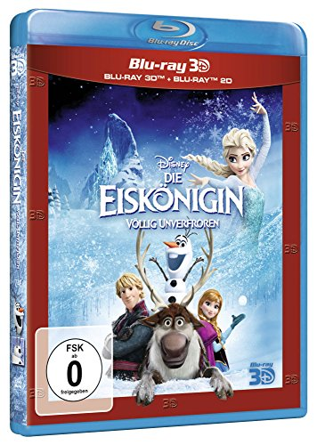 "Frozen 3D ""Die Esikonigin Vollig Unverfrorer"" [2-Disc: Blu-ray 3D + Blu-ray 2D] [Region Free German Import]"