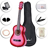 ADM Beginner Classical Guitar 30 Inch Nylon Strings Bundle with Carrying Bag