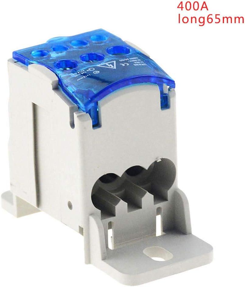 BIlinli Bloques de terminales de riel DIN Caja de conexión de Caja de Bloques de distribución de energía de uno en Varios Caja de Conexiones: Amazon.es: Hogar