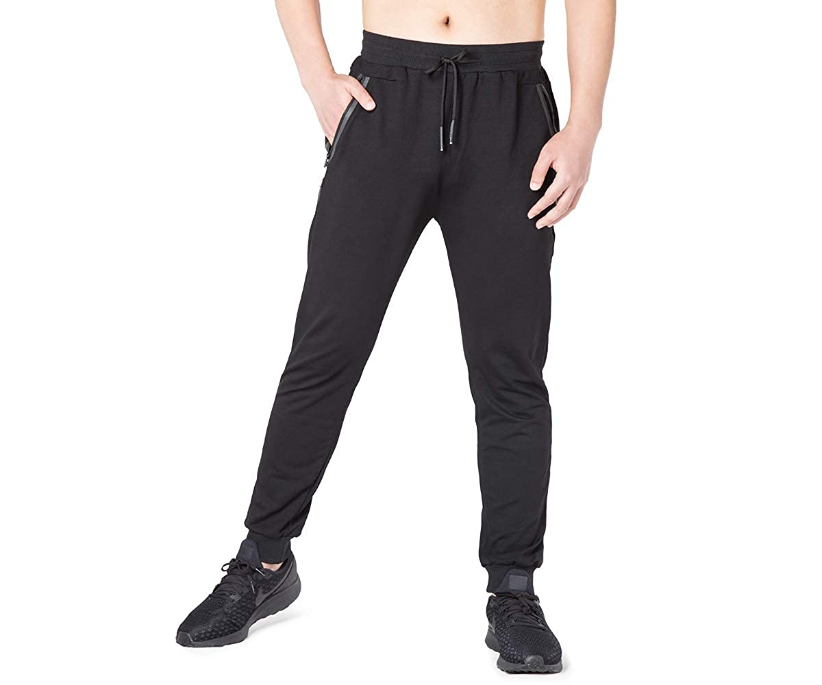search for newest sells meticulous dyeing processes SKeshine Mens Tracksuit Bottoms Slim Fit Gym Joggers Zip Pockets Jogging  Sweatpants