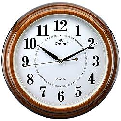 Sinceda Modern Non Ticking Silent Quartz Analog Digital Wall Clock