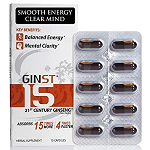 Ginseng LiquidCaps: SMOOTH ENERGY CLEAR MIND Pharmaceutical Grade Pure Enzyme Fermented High Absorption Asian Panax Ginseng Extract:Liquid in Capsules from whole unpeeled roots. Superior to:Powder/American/Red Ginseng...*Focus *Libido *Stress Relief