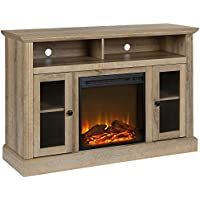 Ameriwood Home Chicago Fireplace TV Stand for TVs up to 50', Natural