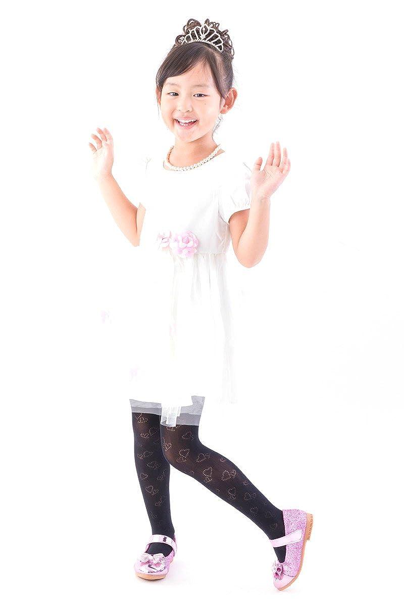 Kids Little girls Dress Party stockings FUN fun Lace fishnet tights Heart pattern