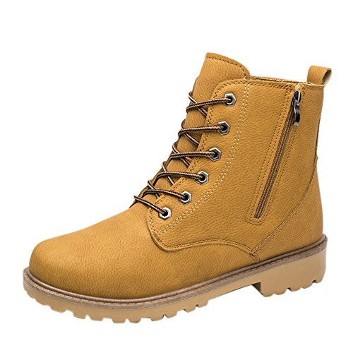 Trim Pump Platform (Christmas Deals! Teresamoon Men Low Ankle Trim Flat Ankle Spring Autumn Leather Boots Casual Shoes)