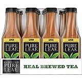 Pure Leaf Iced Tea, Lemon, Sweetened, Real Brewed Black Tea, 18.5 Ounce Bottles (Pack of 12)