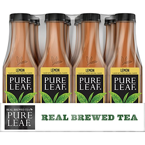 Pure Leaf Iced Tea, Lemon, Sweetened, Real Brewed Black Tea, 18.5 Ounce Bottles (Pack of 12)