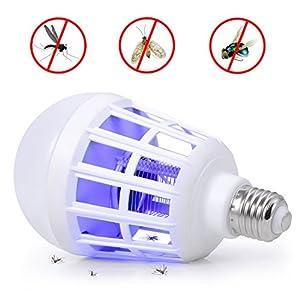 Boomile Electronic Bug Zapper Light Bulb, 100V Mosquito Killer Zapper, Insect Killer Lamp with E26/E27 Base for Indoor, Garden