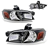 SPPC Black Headlights For Chevy Venture / Oldsmobile Silhouette / Pontiac Montana (Pair) High/Low Beam Bulb Included
