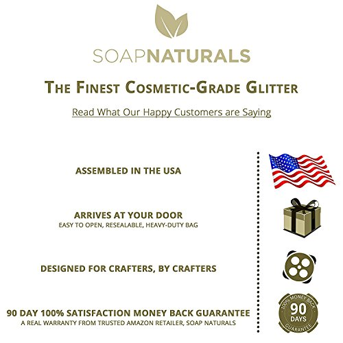 SoapNaturals Cosmetic Grade Glitter for Bath Bombs - Safe for Skin, Bulk 1/2 Pound 8 Ounce | Medium Fine, Iridescent Shimmer | Wholesale Soap Making Supplies for Cosmetics (Cosmic Blue)