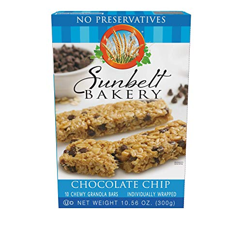 Sunbelt Bakery Chewy Chocolate Chip Granola Bars, 1.1 Ounce Bars, 40 count