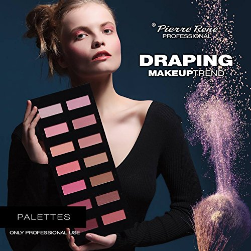 Pierre Rene Professional Make-Up - Complete Luxury Blush Palette 14 high pigmented matte and shimmery blushes by Pierre Rene Professional