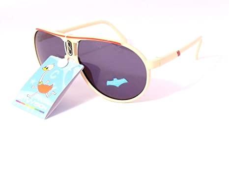 lunettes de soleil aviateur enfant garçon fille 5 6 7 8 ans 72129 (monture  beige ec8c466a4d4c