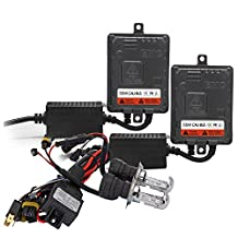 JKCOVER No Error H4 9003 HB2 Bi-Xenon 55W HID Xenon Conversion Kit With No Error CanBus Technology Ballasts - 4300K - 2 Year Warranty