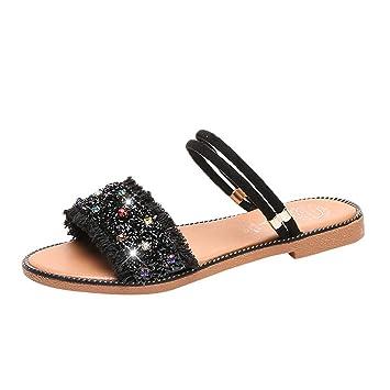 f2cb08cc6fcb4 Amazon.com: ❤ Sunbona Women's Flat Sandals Ladies Summer Beach ...