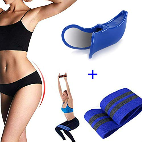 calliven Premium Super Kegel and Resistance Bands for Legs and Butt - Pelvic Floor Muscle and Inner Thigh Exerciser (Best Exercise For Pelvic Muscles)