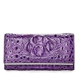 Huasen Evening Bag Bag Multifunctional Large Capacity Long Wallet Seventy Percent Off Card Wallet (19Cm10Cm3Cm) Party Handbag (Color : Violet)