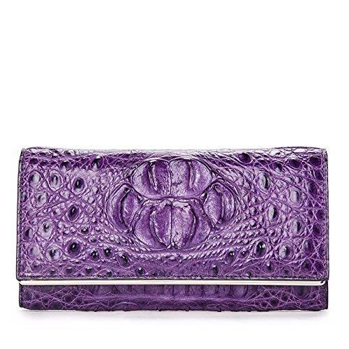 Huasen Evening Bag Bag Multifunctional Large Capacity Long Wallet Seventy Percent Off Card Wallet (19Cm10Cm3Cm) Party Handbag (Color : Violet)