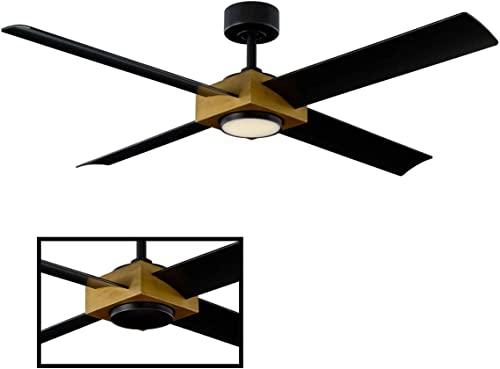 Paradox Indoor/Outdoor 4-Blade Smart Ceiling Fan 56in Aged Bra