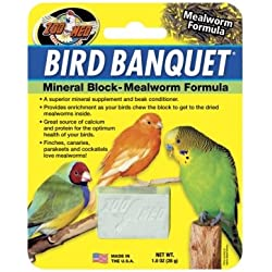 Zoo Med Bird Banquet, 1 Ounce, Mealworm Formula Mineral Block