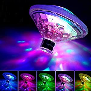 Pool Lights,Submersible led Lights,2 pcs Floating Led Lights Colorful Waterproof Underwater Led Light for Swimming Pool…