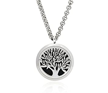 Amazoncom Jewellett Tree Of Life Essential Oil Diffuser Necklace