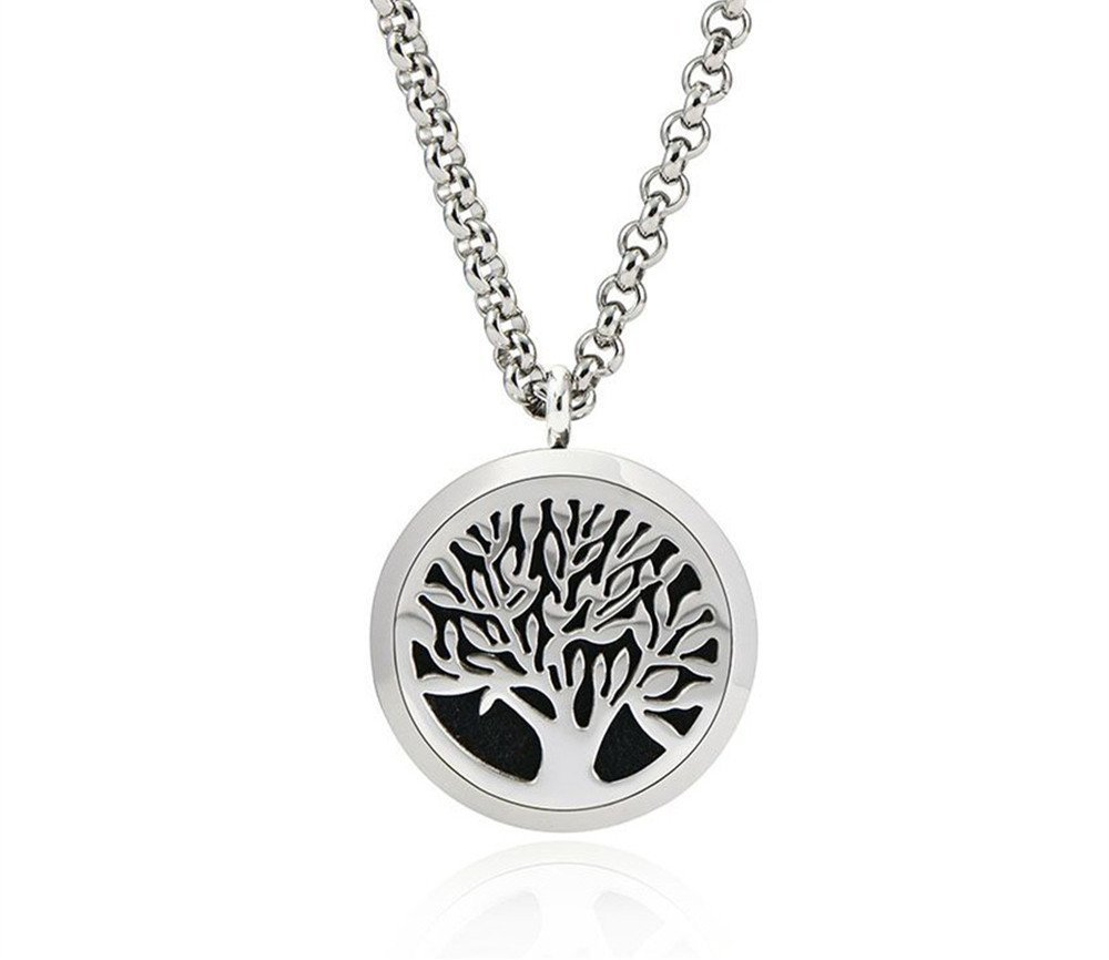 4You Aromatherapy Necklace: Tree of Life Essential Oil Diffuser Necklace - Great in an Exquisite Package
