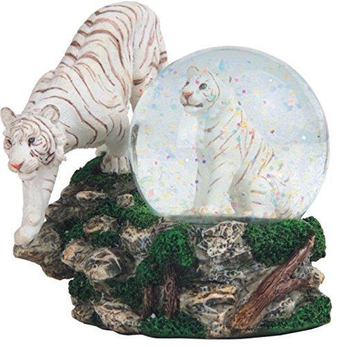StealStreet SS-G-28052 Two White Tigers Snow Globe, 4.25''