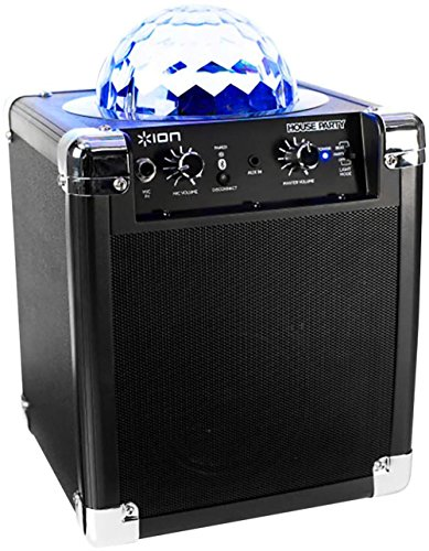 Price comparison product image ION Audio House Party (iPA18L) / Portable Sound System with Built-In Light Show (Black / 8W)