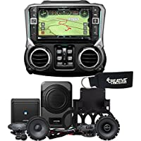Alpine X209-WRA-OR 9-Inch Off-Road Restyle Unit & PSS-20WRA Sound Upgrade For Jeep Wrangler Unlimited 2011-2014