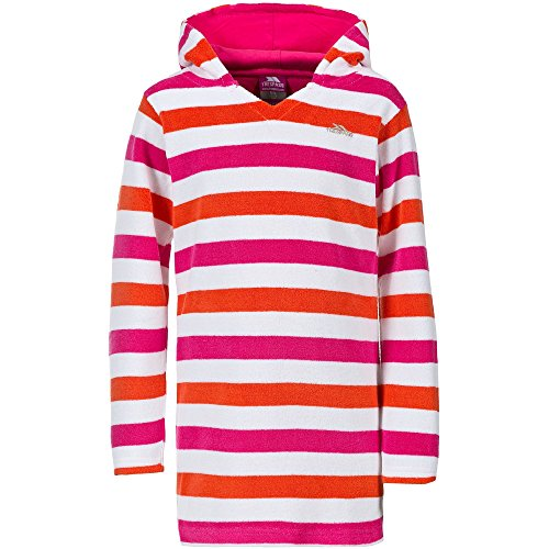 Trespass Childrens Girls Geri Towelling Beach Dress (3-4 Years) (Fuchsia)