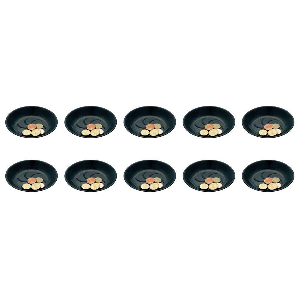 Lot de 10 coupelles porte addition noir en plastique pour hô tel, restaurant, café , bar café FERVIK