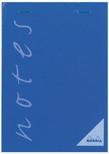 couverture bleue Un Bloc Notes agraf/é en-t/ête 100 Feuilles 60 g 7,4x10,5 cm petits carreaux Calligraphe 15357C