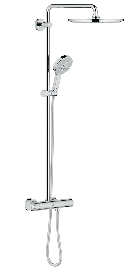 GROHE 27968000 Rainshower 310 Shower System with Thermostat ...