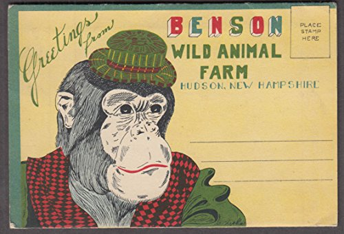 Greetings from Benson Wild Animal Farm Hudson NH multi-view mailer 1950s from The Jumping Frog