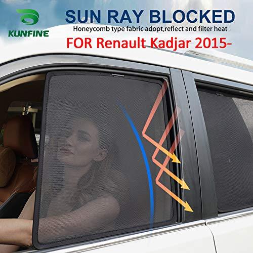 2017 magnetiche in Rete KUNFINE Tendine Parasole per finestrino Auto 2016 per Renault Kadjar 2015 2018 2019 2 PCS Front