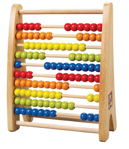 - Hape Rainbow Bead Abacus Kid's Counting Toy