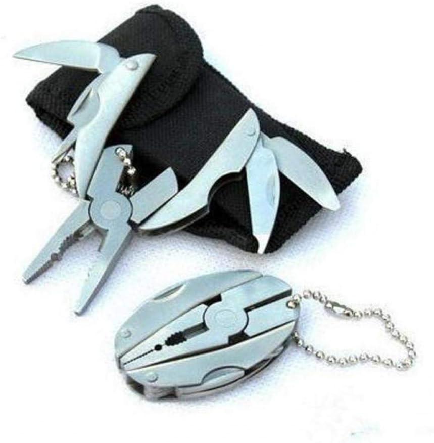 Bongles Tragbare Mini-multifunktions-Edelstahl-faltende Zangen Taschen-Werkzeug-Set Scarab Schl/üsselanh/änger Zangen Camping /Überleben Werkzeuge