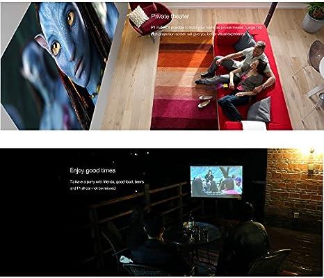 Doogee P1, Pantalla de 120 Pulgadas, proyector de TV para Smartphone, Tablet, PC (iPhone, iPad, Mac PC, Windows PC, teléfono Android, Tablet Android), el tamaño de 2 Pulgadas, portátil y Recargable: Amazon.es: