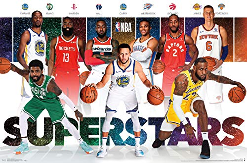 "Trends International NBA-Superstars Mount Bundle Wall Poster, 22.375"" x 34"", Multi"