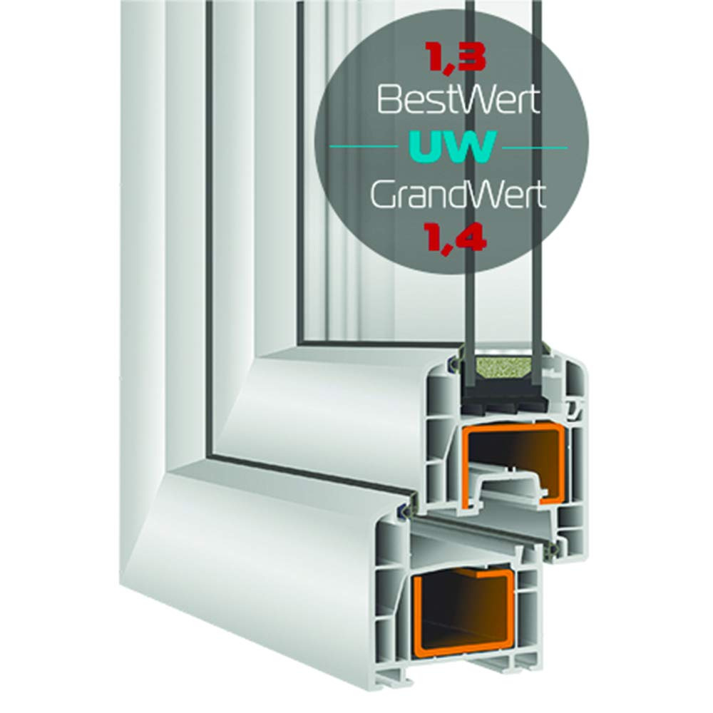 BxH: 40x50 cm DIN Links Fenster Kellerfenster Kunststofffenster BxH 40x50 cm 2 fach Verglasung Dreh Kipp Wei/ß Premium