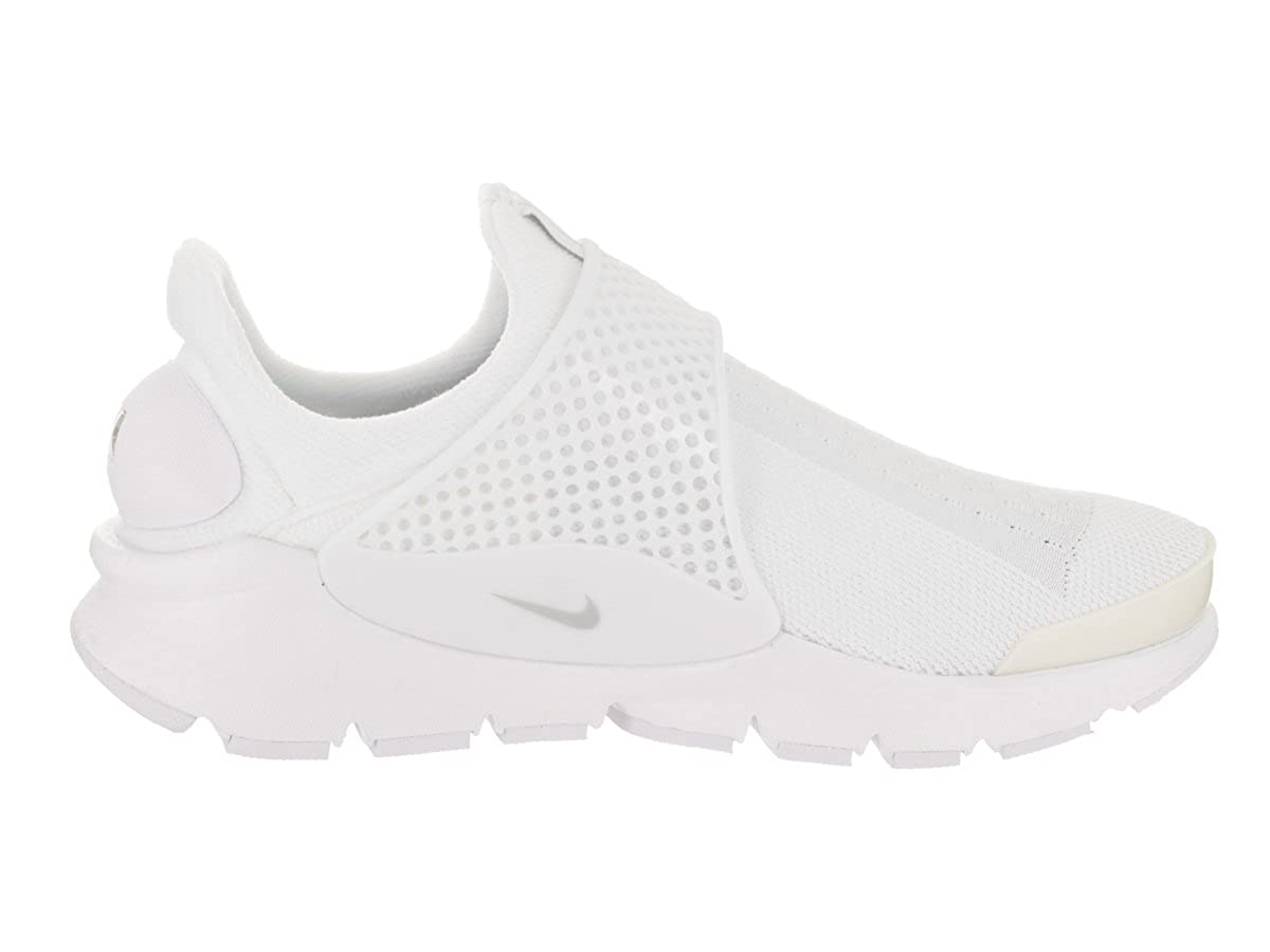 Amazon.com | Nike Sock Dart Womens Running-Shoes 848475-100_8 - White/Pure Platinum | Fashion Sneakers